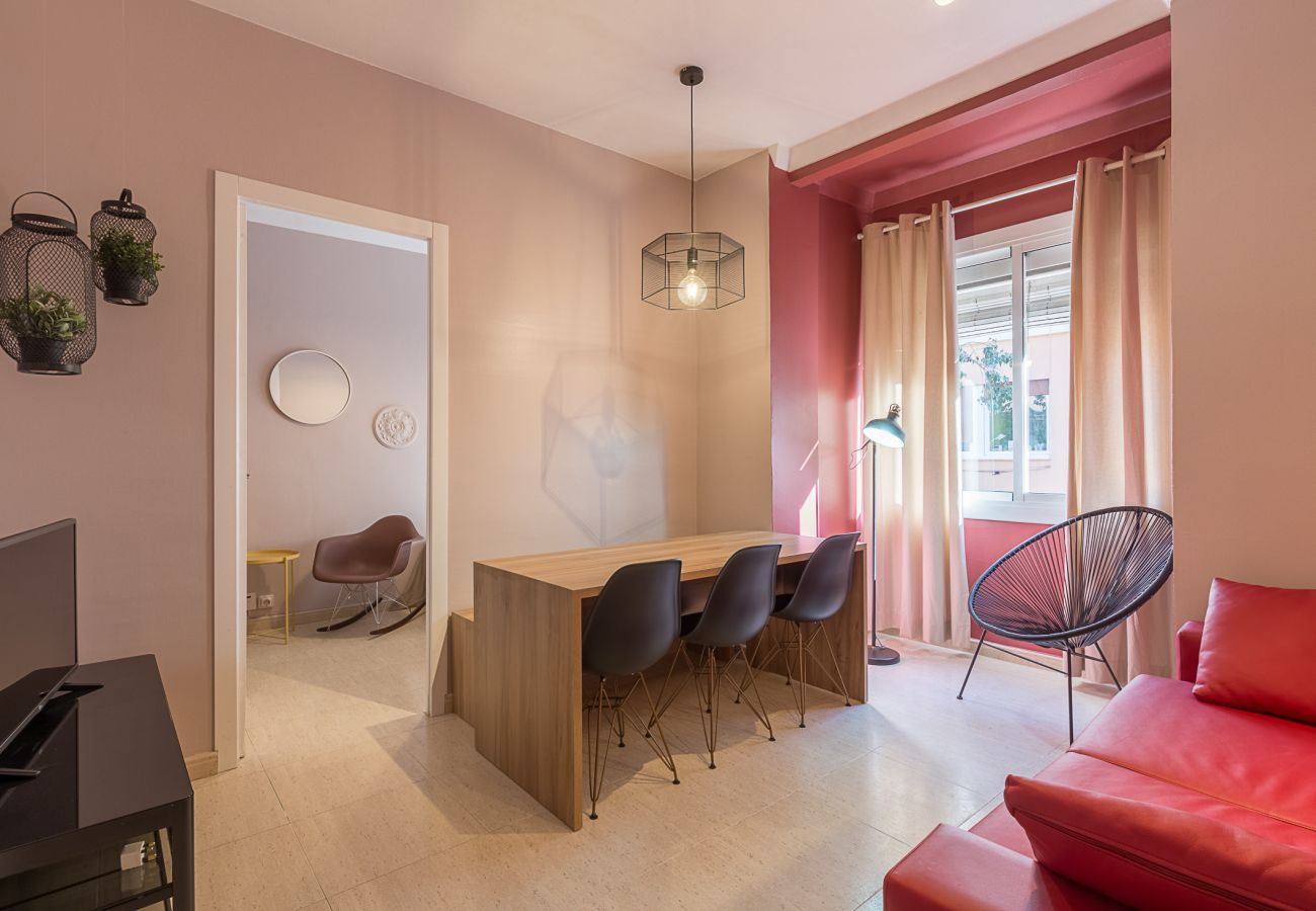 Salon dans l'appartement Plaza España centre Barcelone
