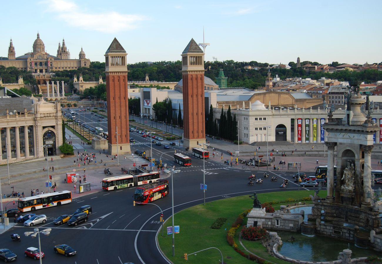 Appartement à Barcelone - OLIVERA, balcony, Plaza España, La Fira